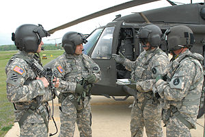 Army Aircrew Combat Uniform - U.S. Army soldiers wearing the Army Aircrew Combat Uniform in August 2009.