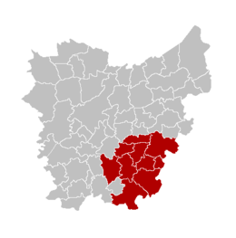 Arrondissement di Aalst – Mappa
