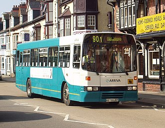 Leyland Tiger - Arriva Buses Wales Alexander bodied Tiger in Aberystwyth in September 2008