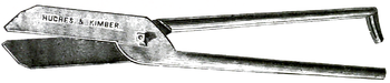 Cross-hatched drawing of a pair of shears.