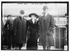 Arthur Irwin - Irwin (left) with Mr. and Mrs. Frank Chance, 1913