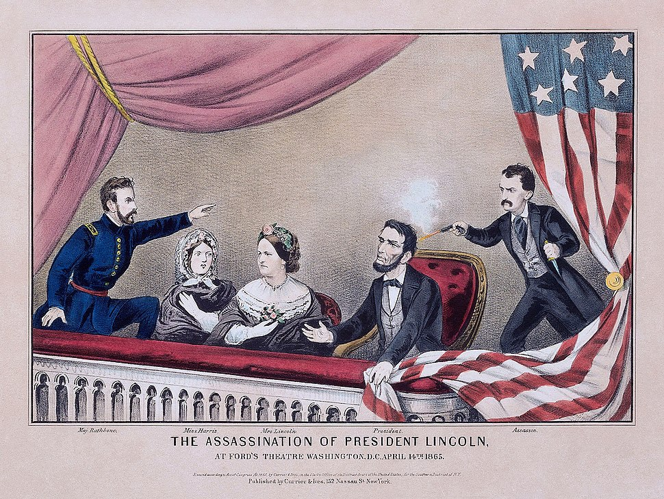 Assassination of President Lincoln (color) - Currier and Ives