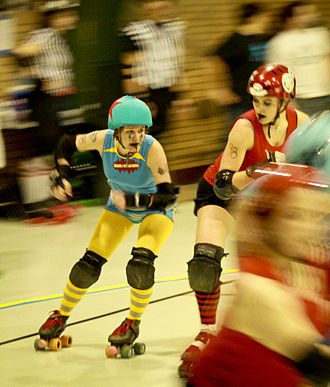 Roller derby - A Windy City Rollers (Chicago, Illinois) jammer