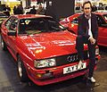 Audi Quattro (with a card board cutout of Gene Hunt) (10937590283).jpg