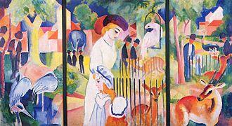 Museum Ostwall - August Macke: Great Zoological Garden (triptych, 1913)