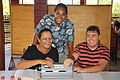 Australian volunteer Ben Clare, himself blind, volunteering in Samoa training teachers and students to read braille. 2010. Photo- Ben Clare - AusAID (10675514063).jpg