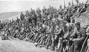 Rudolf Stöger-Steiner von Steinstätten - Austro-Hungarian troops rest during an advance