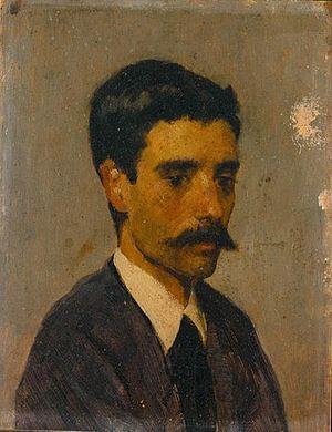 António Carvalho de Silva Porto - Self-portrait, c.1873