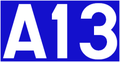 Autoroute 13 (Luxemburg) number.png