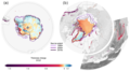 Average rate of ice thickness change in the (a) Southern Hemisphere and (b) Northern Hemisphere.png