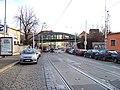 Bělehradská, most železniční spojky Vršovice - Vyšehrad, pohled k Nuslím (02).jpg