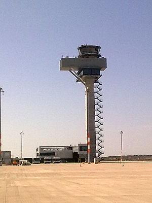 Berlin Brandenburg Airport - The air traffic control tower of Berlin Brandenburg Airport (2012).