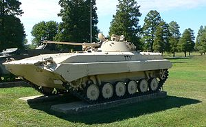 BMP-1 variants - BMP-2 on display at the United States Army Ordnance Museum (Aberdeen Proving Ground, MD), 19 September 2007.
