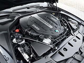 BMW N63 twin turbo DOHC V8 piston engine