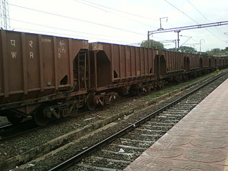 Hopper car - BOBRN class hopper cars freight rakes used by Indian Railways