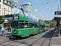 BVB Tram car 685 line 2 towards Bahnhof SBB-Binningen at Basel, Switserland.JPG
