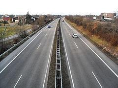B 36- near Hockenheim- direction north (A 6, Schwetzingen) 28.2.2009.JPG