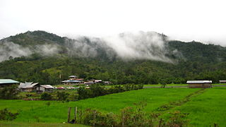 Bakelalan Town in Sarawak, Malaysia