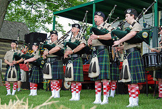 Dress Act 1746 - Bagpipes at the Strawberry Festival.