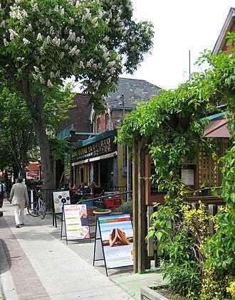 Grange Park (neighbourhood) - Shops in Baldwin Village a commercial enclave that has developed around Baldwin Avenue.