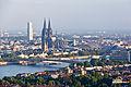 Ballonfahrt über Köln - Deutzer Brücke, Kölner Dom, Groß St Martin, KölnTurm-RS-4090.jpg