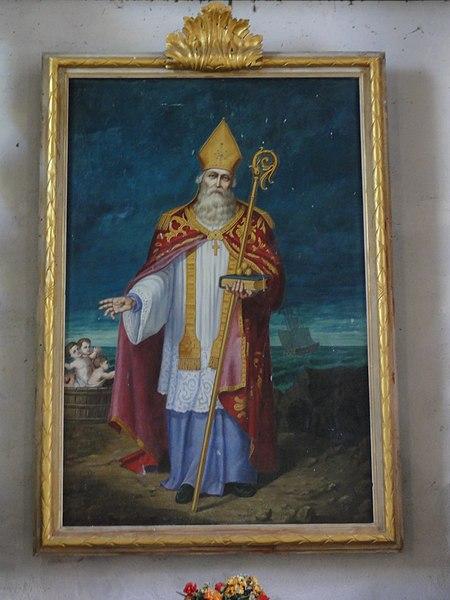 Bancigny (Aisne) église, tableau Saint-Nicolas
