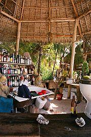 A bar in Zanzibar, Tanzania