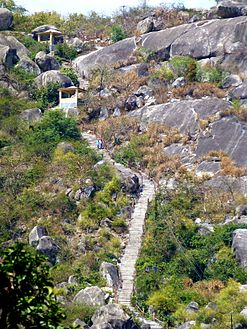Barabar Caves - Staircase on other Side of the Hill (9224812247).jpg
