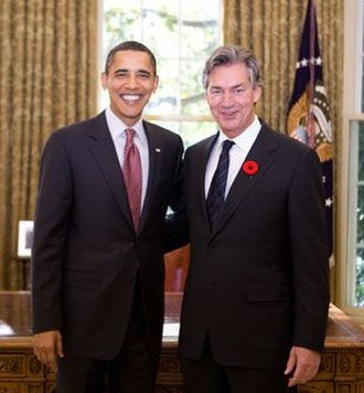 Gary Doer - Doer with US President Barack Obama in 2009
