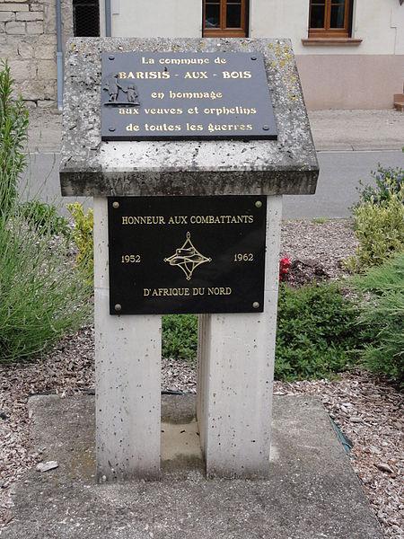 Barisis-aux-Bois (Aisne) mémorial veuves et orphelins de guerre