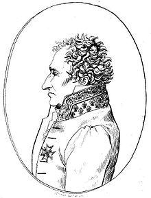 Dessin du profil du baron Louis