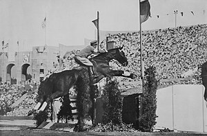 Equestrian at the 1932 Summer Olympics - Takeichi Nishi with Uranus at the 1932 Summer Games
