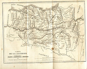 End of Basque home rule in Spain - Map of the Basque districts in Spain (circa 1842)