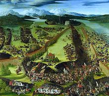 Schlacht bei Pavia 1525 (Ölgemälde von Ruprecht Heller, 1529) (Quelle: Wikimedia)