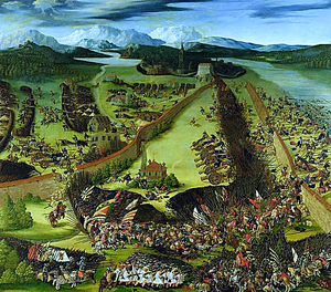Spanish Army - The Battle of Pavia, 1525. Spanish forces capture the French king, Francis I