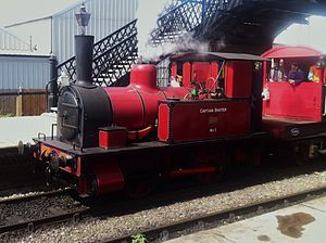 Fletcher, Jennings & Co. - Fletcher Jennings locomotive Captain Baxter at Sheffield Park Station on the Bluebell Railway