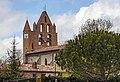 Bazus - Église Saint-Pierre - Le clocher-mur.jpg