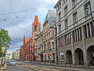 Jagiellońska street in Bydgoszcz street in Bydgoszcz, Poland