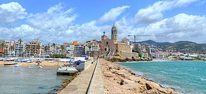 Sitges - The Beach and Monastery of Sitges