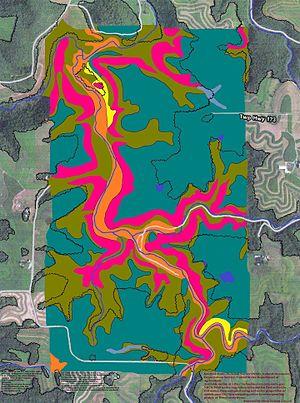 Houston County, Minnesota - Soils of Beaver Creek Valley State Park neighborhood