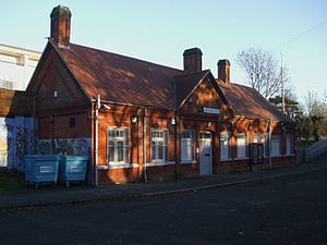 Beckenham Hill railway station - Main building at Beckenham Hill station, on the up side, in 2008