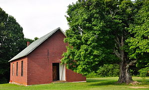 National Register of Historic Places listings in Rutherford County, Tennessee - Image: Beesley Primitive Baptist Church