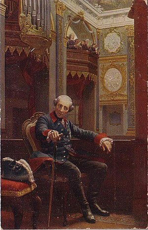 Oskar Begas - Frederick the Great in the chapel of Charlottenburg Palace (1868)