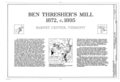 Ben Thresher's Mill, Title Sheet - Ben Thresher's Mill, State Aid No. 1, Barnet, Caledonia County, VT HAER VT,3-BACEN,1- (sheet 1 of 11).png