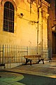 Bench in the Muristan. Jerusalem by night 119 - Aug 2011.jpg