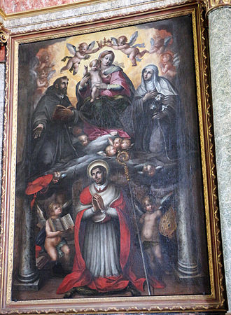 Benedetto Bandiera - Madonna and saints, San Francesco (Gubbio)