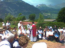Benedizione ad Ecône, Svizzera.