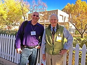 Jan Harold Brunvand - Benjamin Radford and Jan Brunvand at the 2014 American Folklore Society conference in Santa Fe, New Mexico
