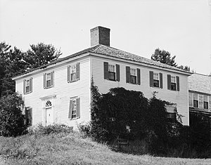 Georgetown, Maine - Front of the Benjamin Riggs House, located along Robinhood Road in Georgetown, a town in Sagadahoc County, Maine, United States. Built in 1790, it is listed on the National Register of Historic Places