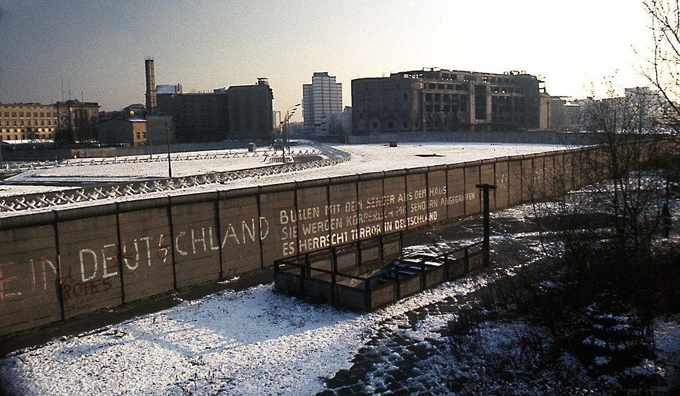Berlin Wall Potsdamer Platz November 1975 looking east